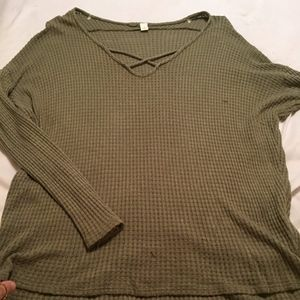 olive green soft sweater!